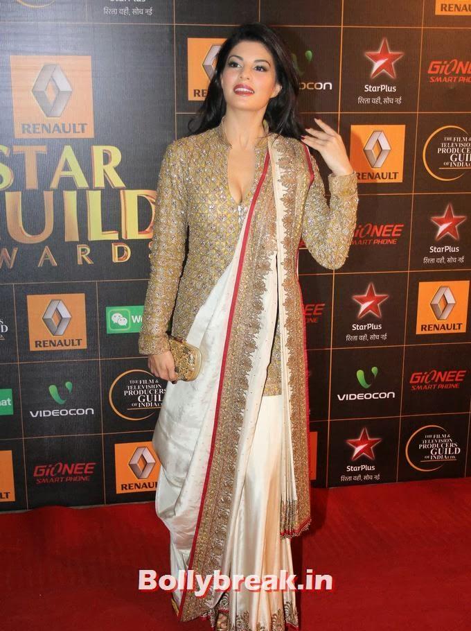 , Jacqueline Fernandez on Star Guild Awards Red Carpet