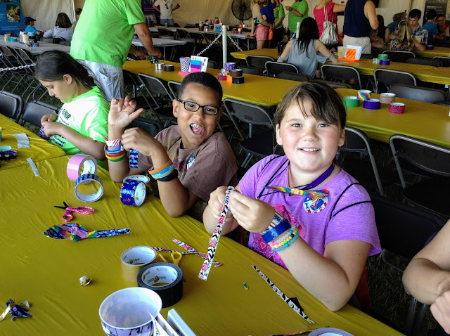 Crafting at the Avon Duck Tape Festival