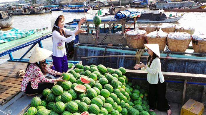Cho noi, mot trong nhung dieu thu vi ban co the kham pha o dong bang song cuu long