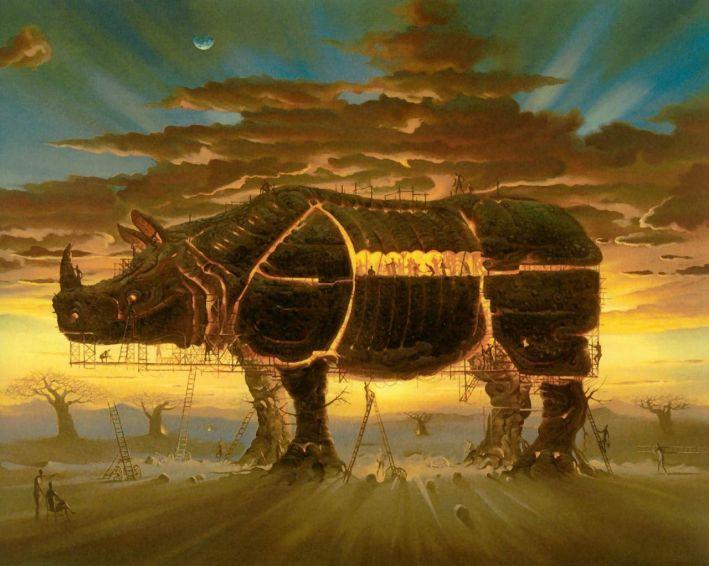Cavalo de Tróia -  Vladimir Kush
