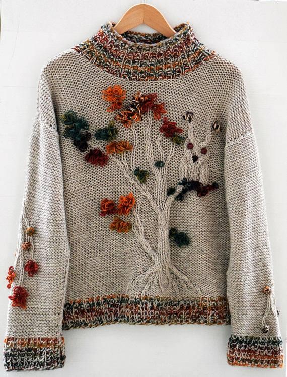 sweterek w stylu boho