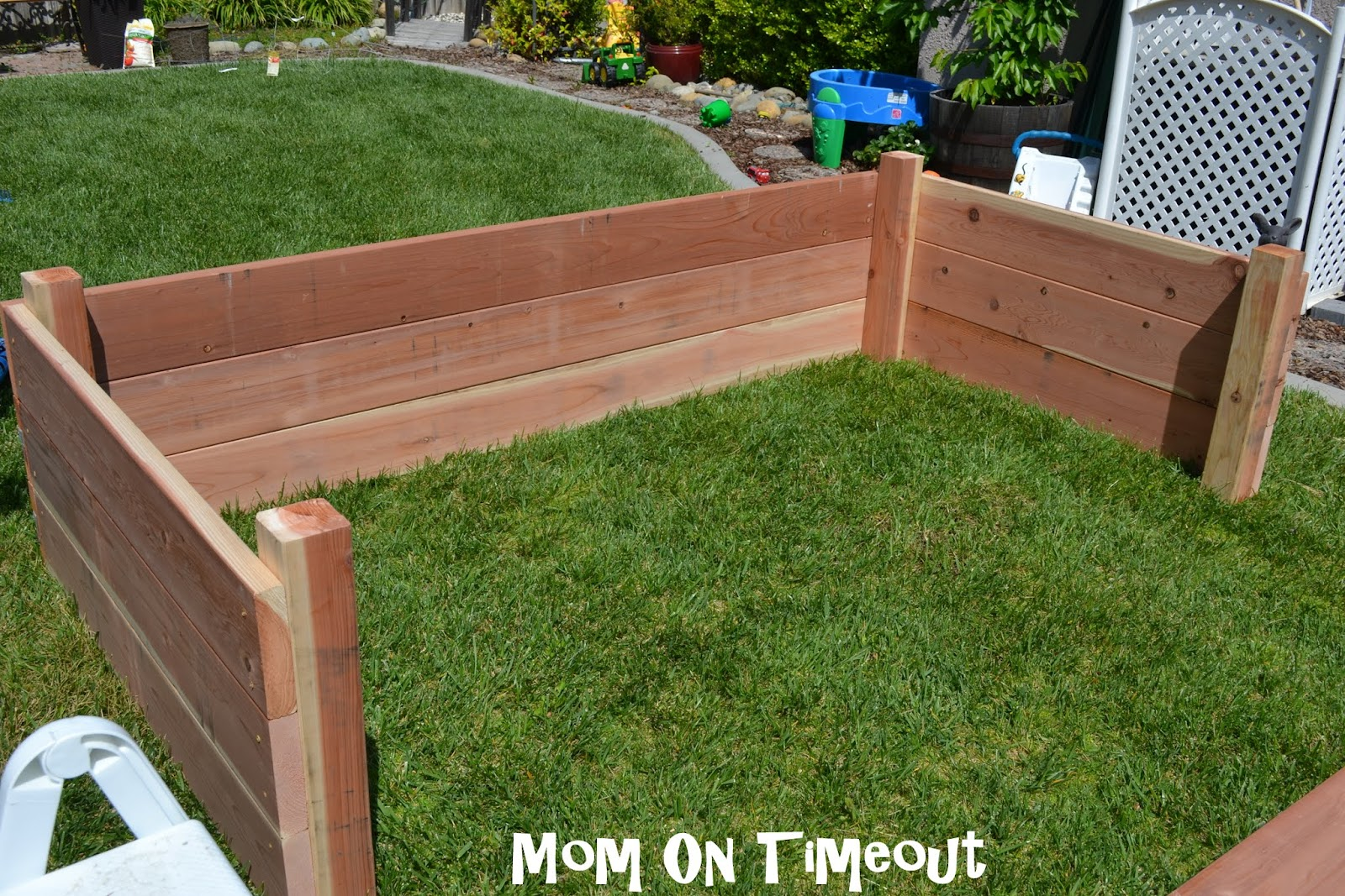 Big Garden Planters Diy Garden Planter Box Tutorial
