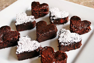 Image result for love heart brownies