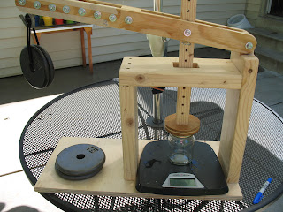 Welcome home farm calibrating the cheese press - How to calibrate a bathroom scale ...
