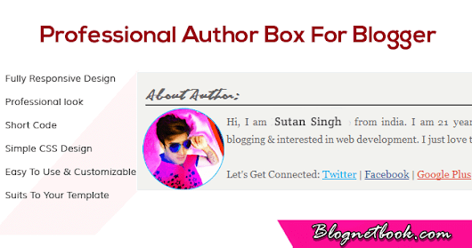 Stylish Blogger Author Box All Blog Post Me Enable Kaise kare