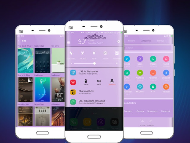 Download Tema For MIUI S8 Purple theme Mtz update New Version