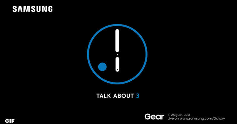 Samsung Gear S3 Teased, To Launch This August 31, 2016