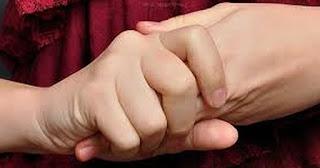 wringing hands