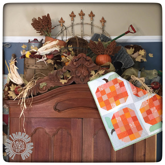 Festive Fall Decor by Thistle Thicket Studio www.thistlethicketstudio.com