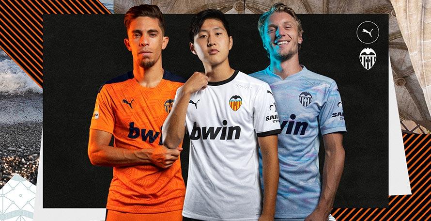 Valencia 20-21 Home, Away & Third Kits Released - Footy Headlines