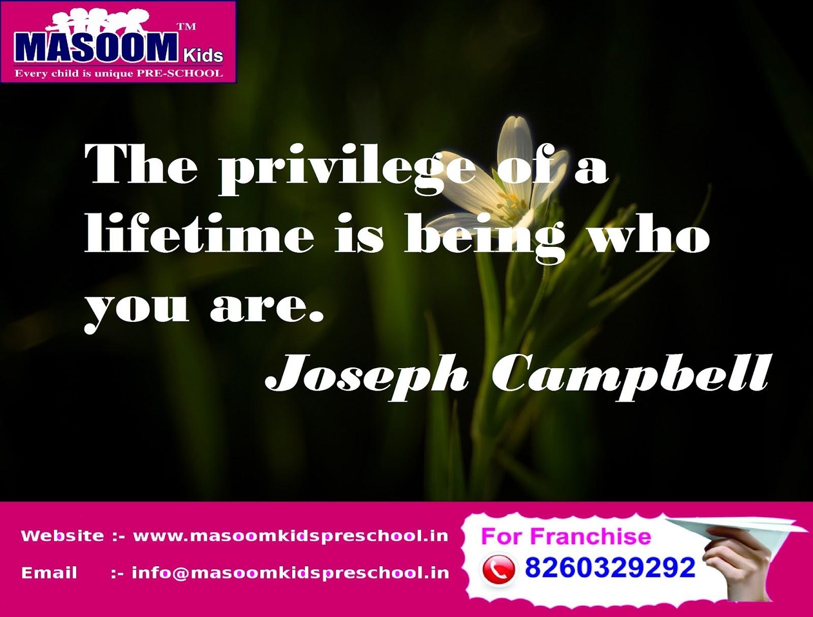 Masoom Kids Pre School Educational Quotes
