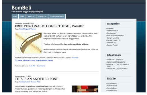 free blogger theme