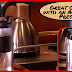 Coffee on Board the boat (American Press, JavaPresse Manual Grinder, AeroPress Coffee Maker)