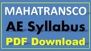 MAHATRANSCO AE Syllabus PDF Download