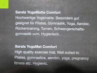 """Eigenschaft: Yogamatte """"Yoganidra"""" Die ideale Yoga- und Gymnastikmatte für Yoga-Einsteiger. Maße: 183 x 61 x 0,4cm / Eulenmuster"""