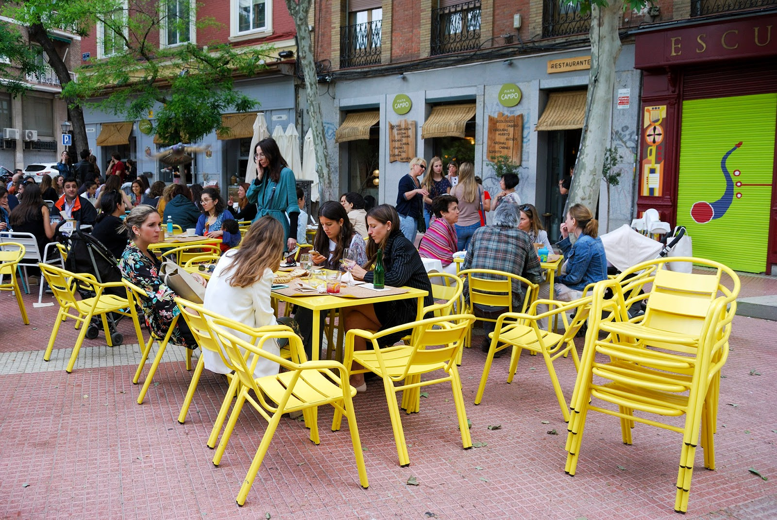 summer madrid mama campo restaurant healthy food madrid olavide
