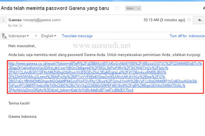 Lupa Password FO3 Garena Indonesia