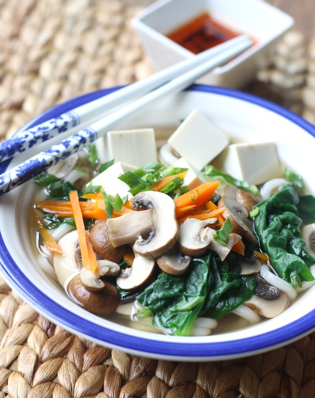 Vegetables Udon Noodle Soup recipe by SeasonWithSpice.com
