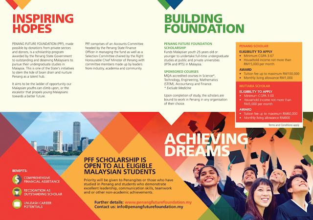 Penang Future Foundation (PFF) Scholarship 2017