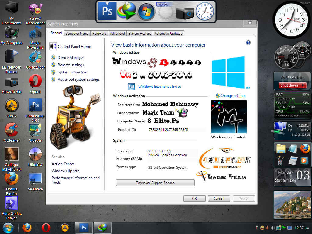Windows XP 8 Elite Edition v2 0 2012 (32bit) with Sata Drivers By