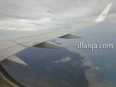 daratan Pulau Belitung sudah terlihat