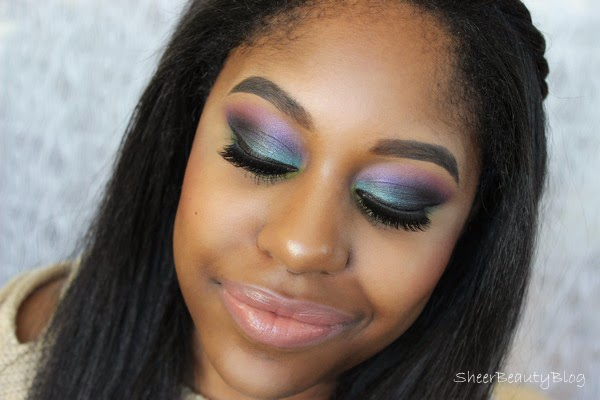 colourful eye makeup with makeup geek and bh cosmetics