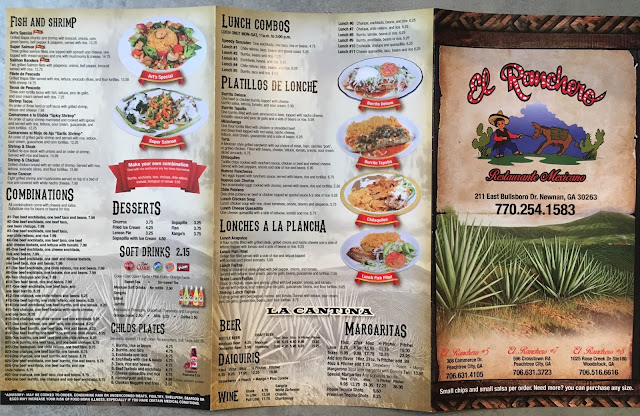 El Ranchero Newnan Take Out Menu