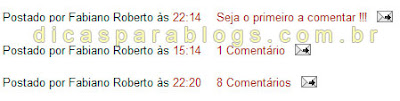 plural dos comentarios do blogger