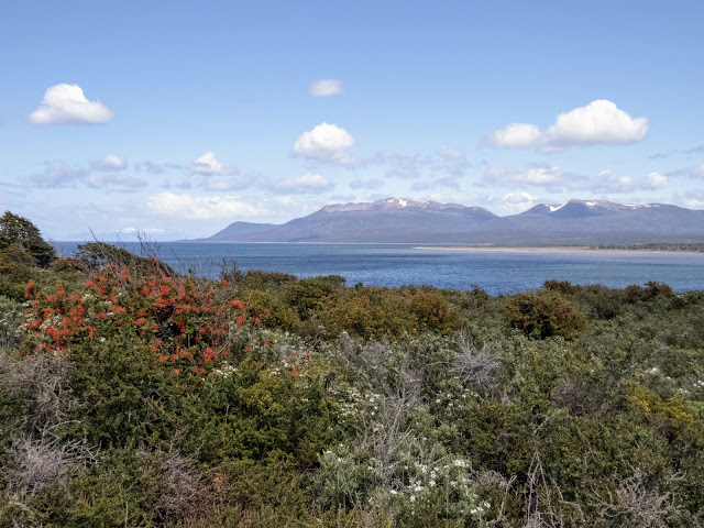 Patagonia 2 week Itinerary: View over the Strait of Magellan at Fort Bulnes near Punta Arenas Argentina
