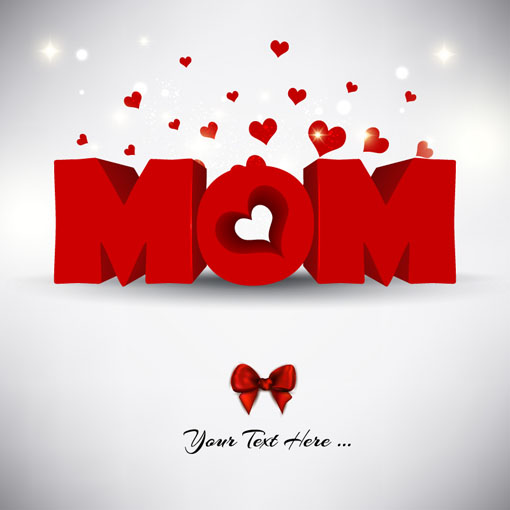 Creative mother day design material vector background