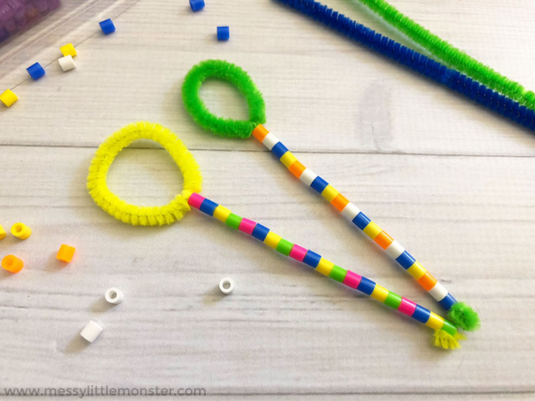 fine motor activity for preschoolers - make bubble wands