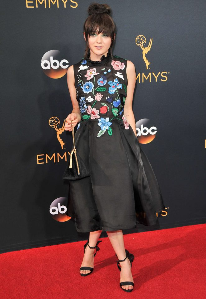 Maisie Williams goes flirty for the 2016 Emmy Awards