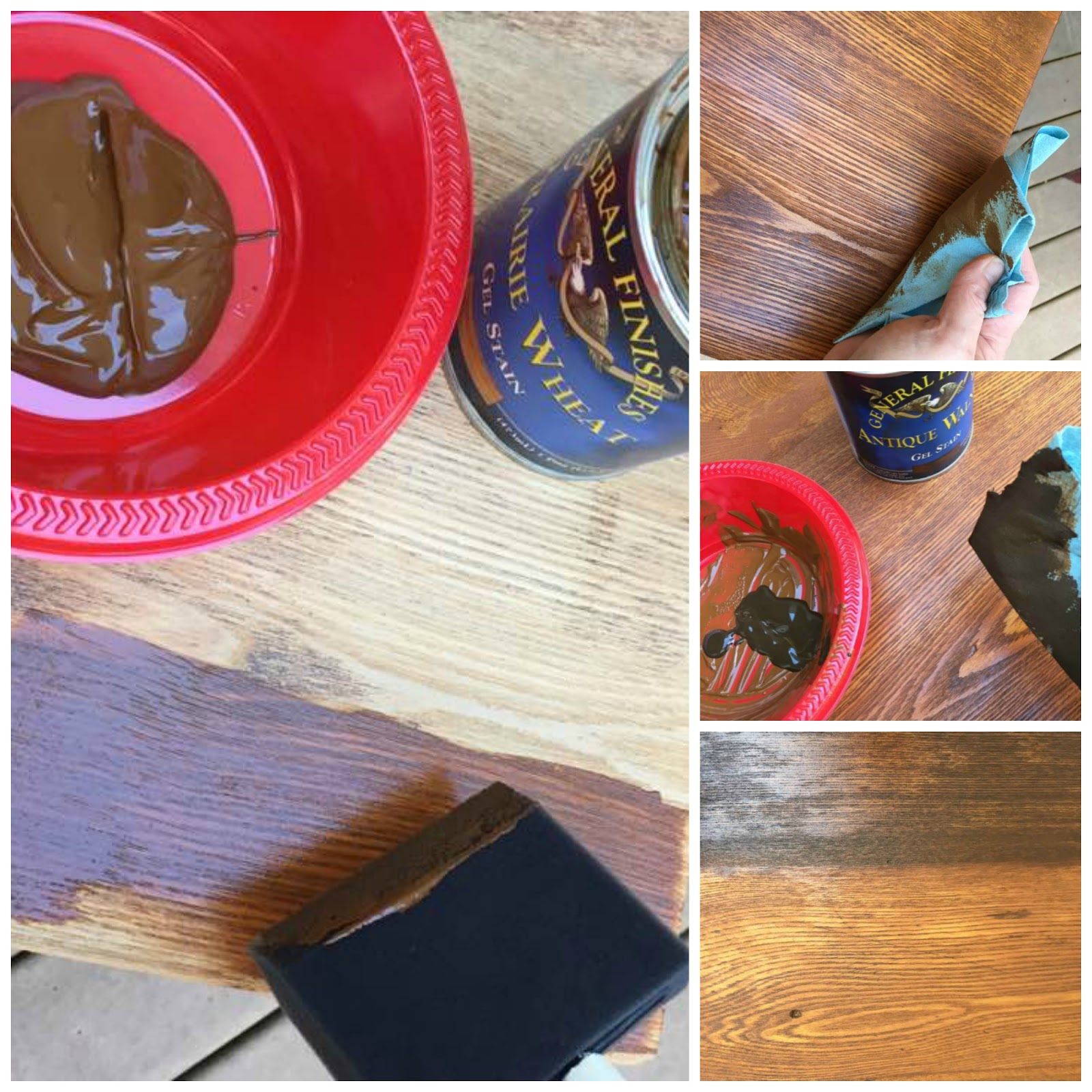 Create a custom finish with different stains.