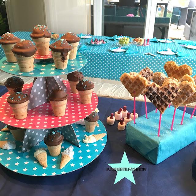 Eiswaffelmuffins-Muffins-Waffelbecher-Rezept