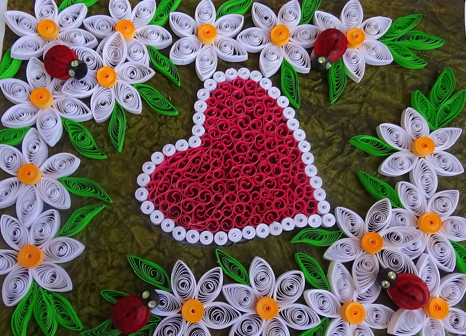 How To Make Valentines Day Or Quilling Greeting Card Paper Quilling