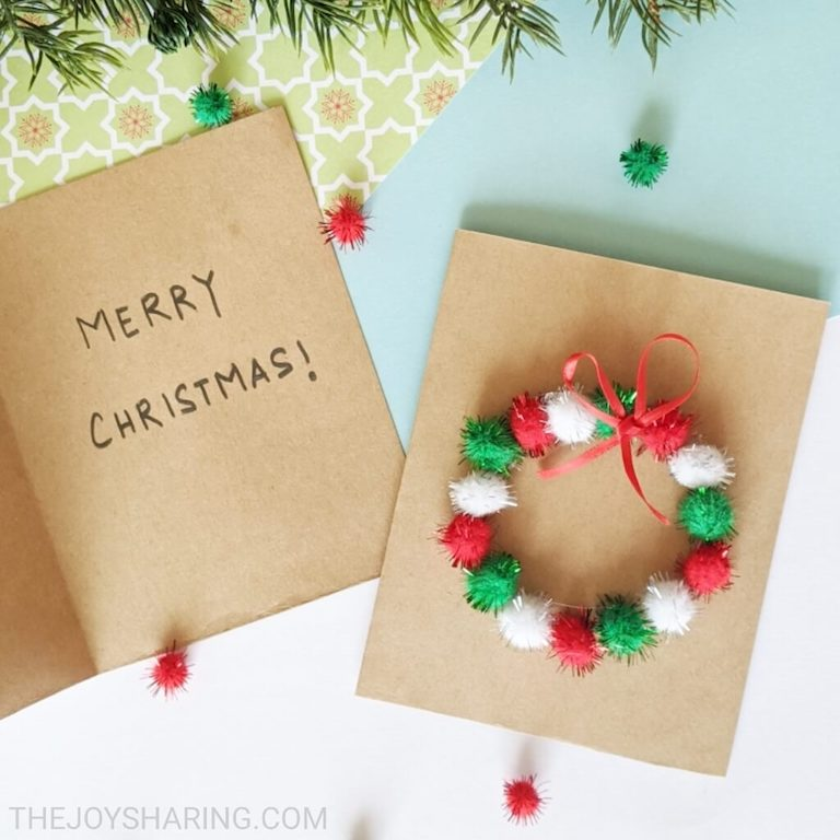 Easy Christmas cards for kids to make.