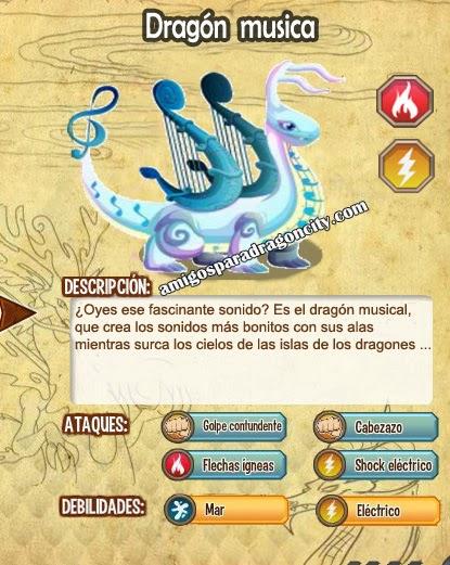 imagen de las caracteristicas del dragon musica