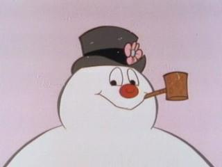 A smiling Frosty the Snowman 1969 animatedfilmreviews.filminspector.com