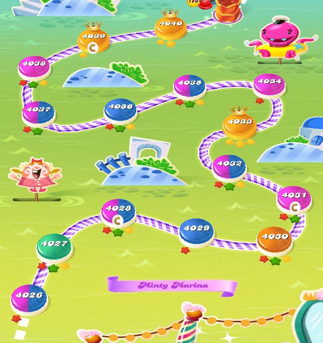 Candy Crush Saga level 4026-4040