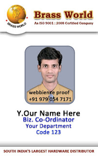 Employee Badge Template. id badge template related keywords amp ...