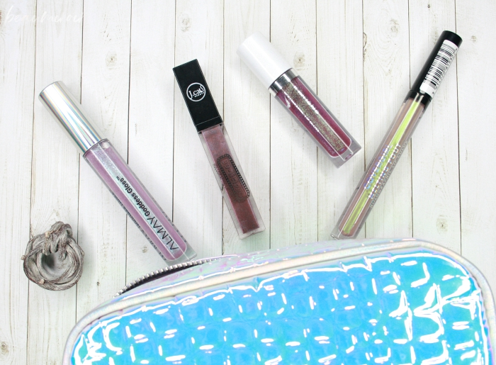 review swatches almay goddess gloss j.cat 3d-licious holographic lip cream covergirl melting pout holographic lip color jordana cosmic glow lip gloss