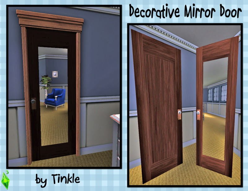 My Sims 3 Blog: Decorative Mirror Door By Tinkle