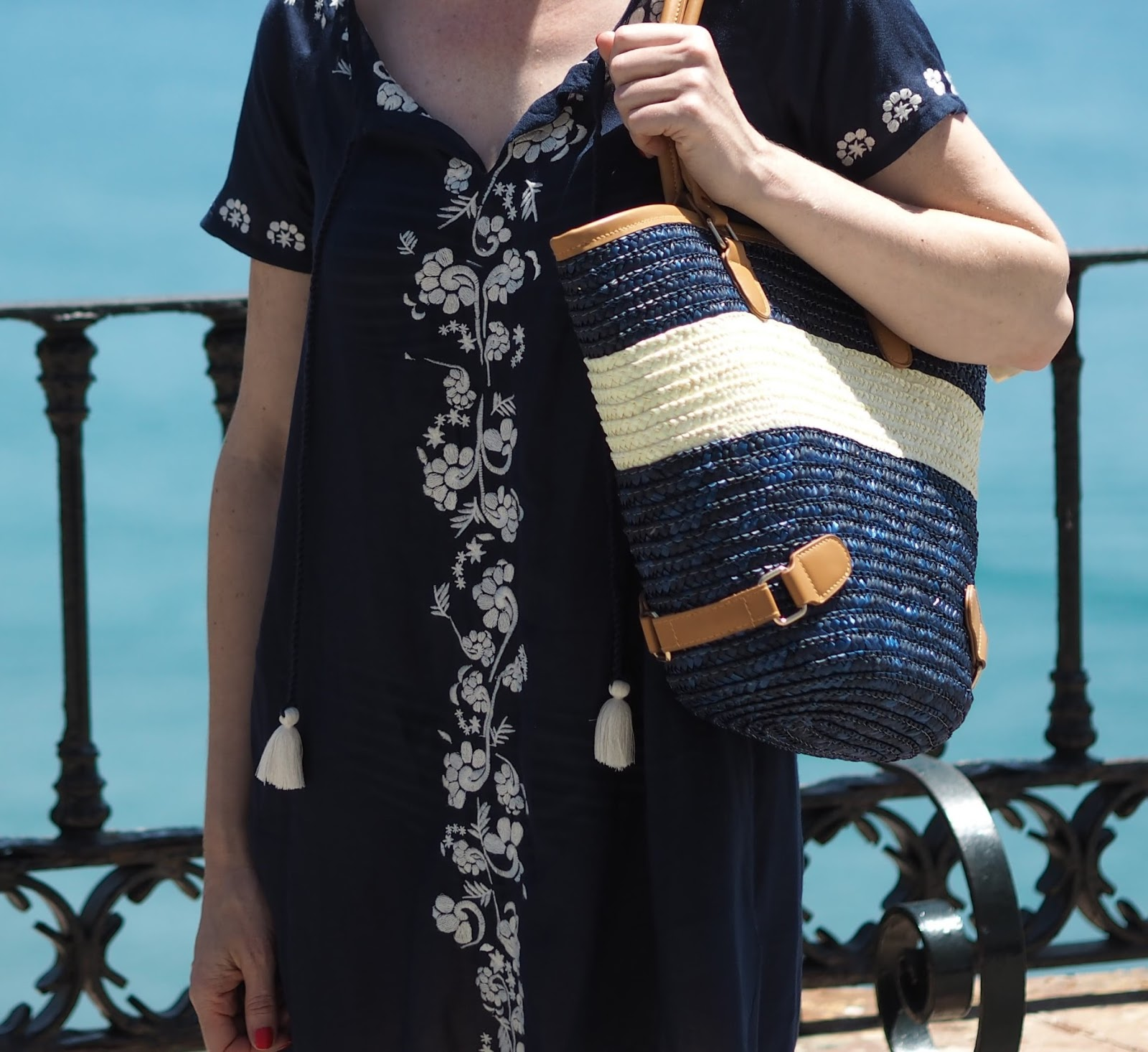 Boden embroidered Corsica kaftan with tassels