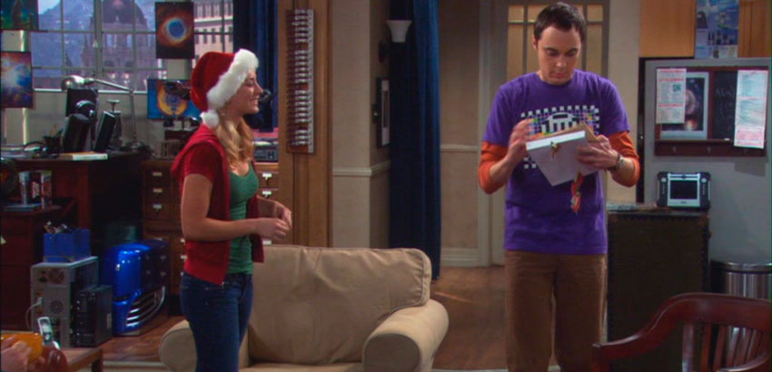 The Big Bang Theory 2x11 The Bath Item Gift Hypothesis