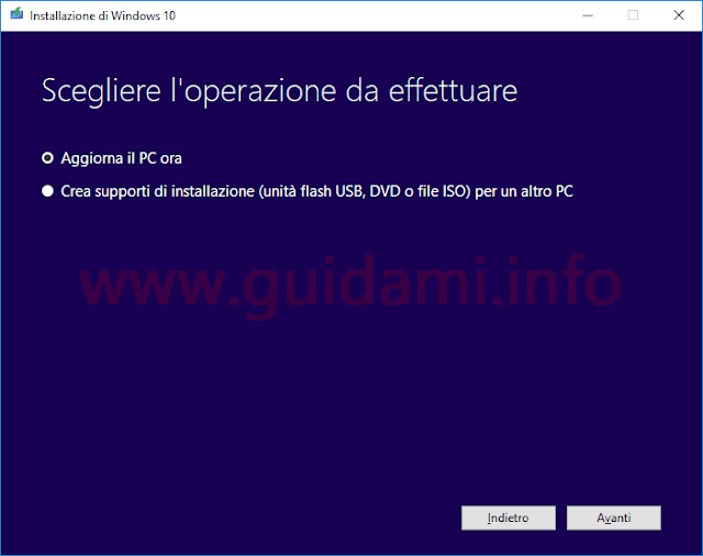 Media Creation Tool Windows 10 versione 1803