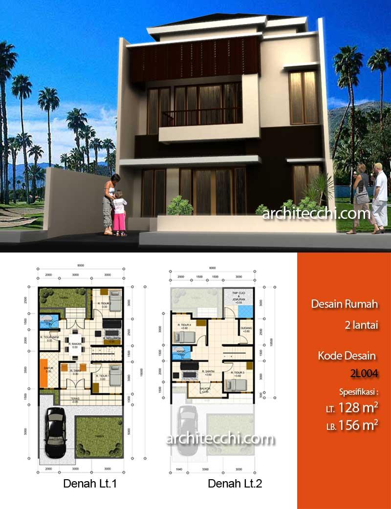 Desain Rumah Pojok 2 Lantai