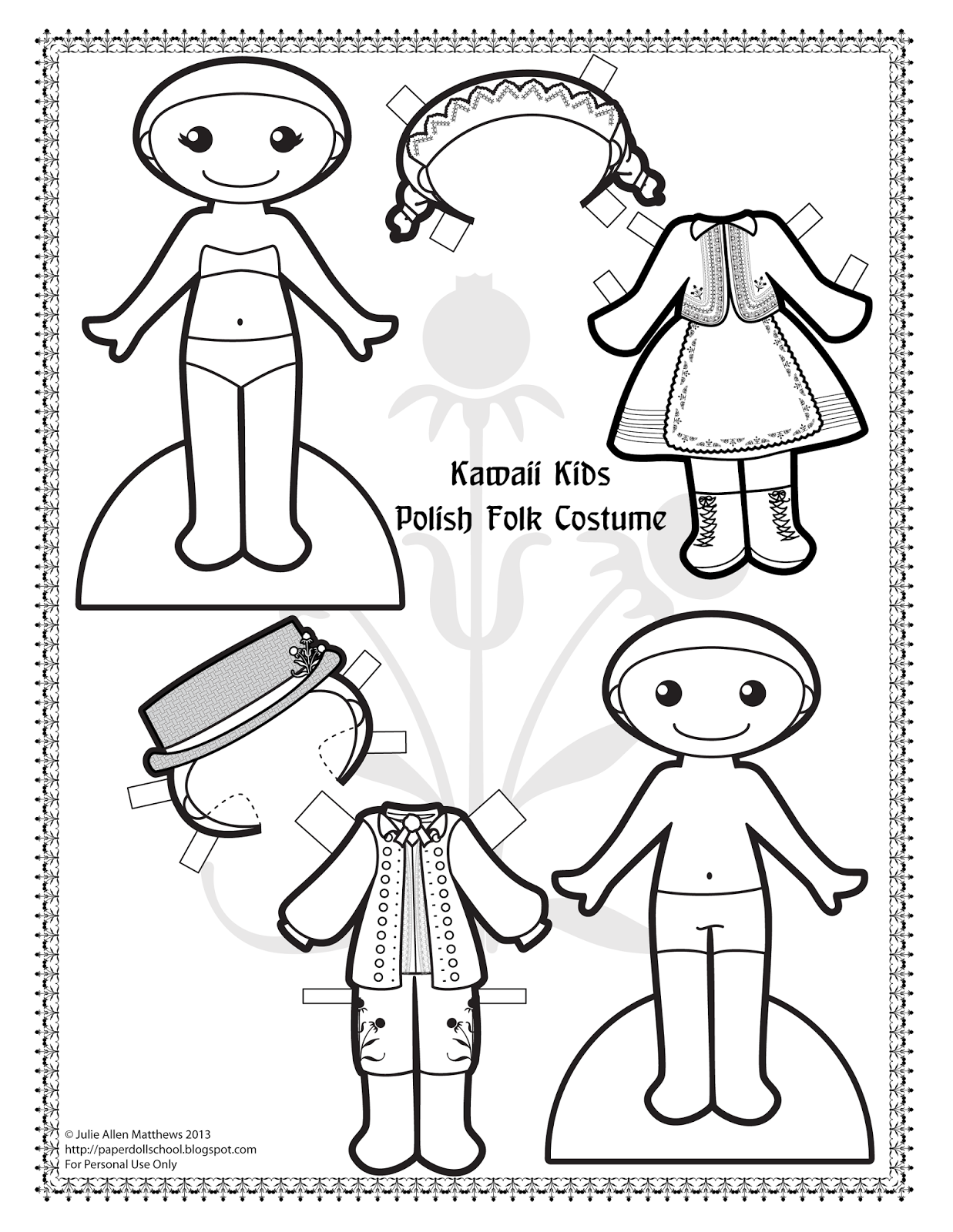 Paper Doll School Kawaii Kids 28