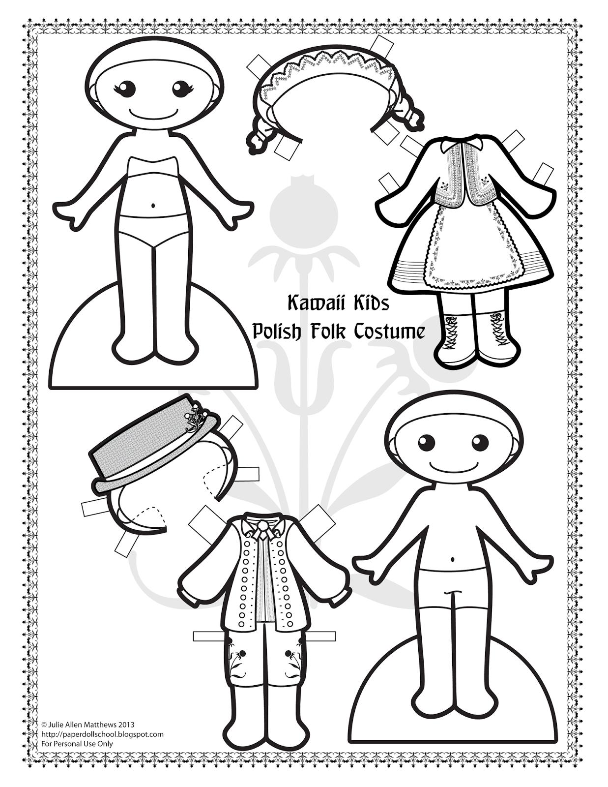 Paper Doll School Kawaii Kids 28