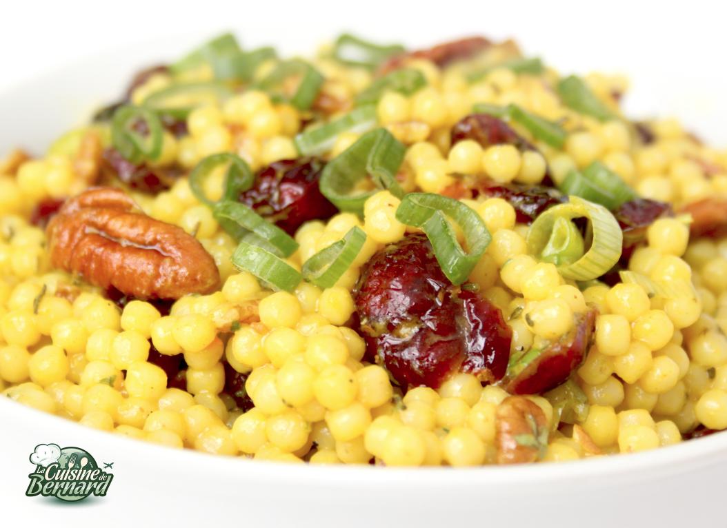 la cuisine de bernard   salade de couscous g u00e9ant aux