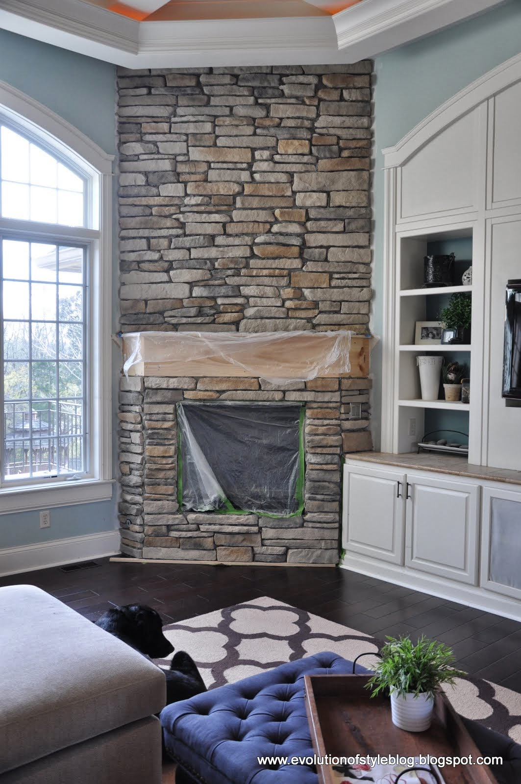 A (Big) Stone Fireplace Update! - Evolution of Style